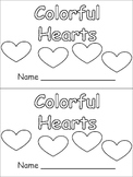 Colorful Hearts- Valentines Kindergarten book- color & number words