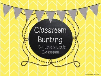 Colorful Herringbone Classroom Bunting