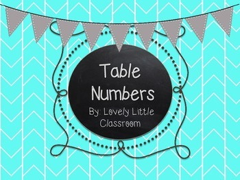 Colorful Herringbone Classroom Table Numbers