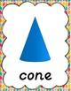 Colorful Herringbone Shape Posters for Classroom Decor