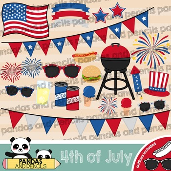 Independence Day / Fourth 4th of July Clip Art