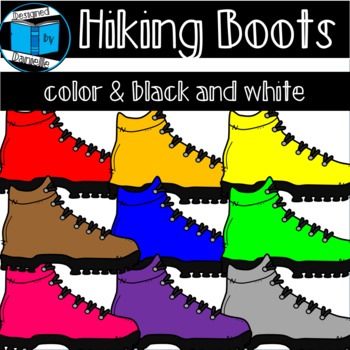 Colorful Hiking Boot Clipart