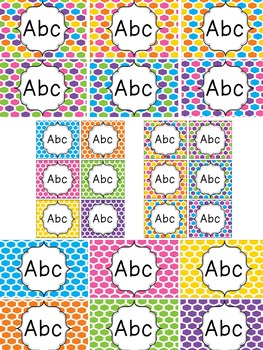 Colorful Honeycomb Editable Labels