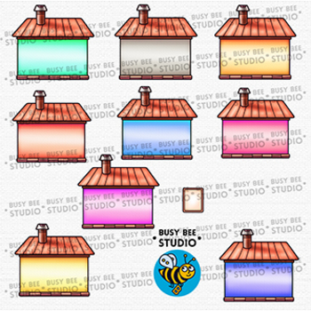 Colorful Houses Clip Art