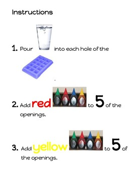 Colorful Ice Paint Adapted Recipe