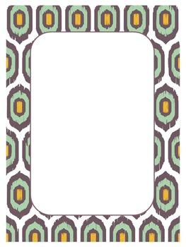 Colorful Ikat Frames
