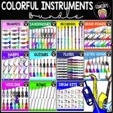 Colorful Instruments Clip Art Bundle {Educlips Clipart}