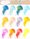 Jellyfish Clip Art {Angel's Clips}
