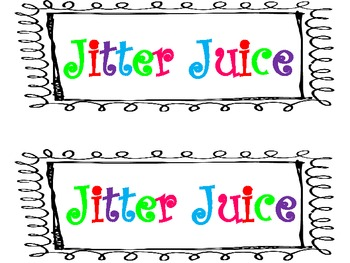 Colorful Jitter Juice Label