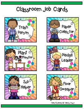 Colorful Classroom Job Cards