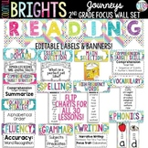 {COLORFUL BRIGHTS} Journeys 2nd Grade Focus Wall Set
