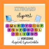 Colorful Keyboard Clipart for Digital and Printable Resources!