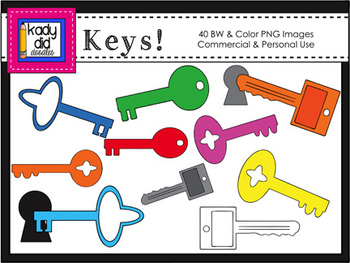 Colorful Keys - 40 Color & BW images