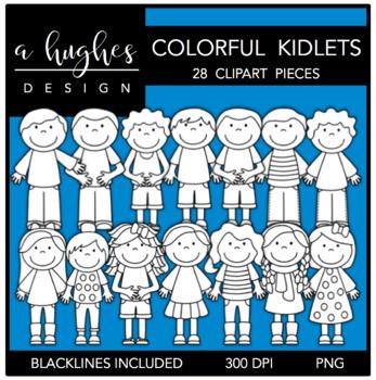 Colorful Kidlets Clipart {A Hughes Design}