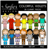 Colorful Kidlets Clipart {A Hughes Design}