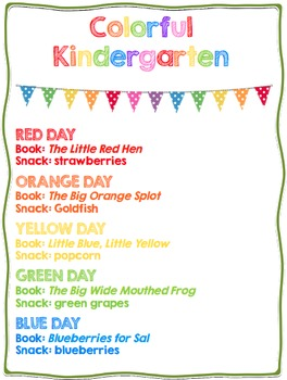 Colorful Kindergarten {Color Days unit}
