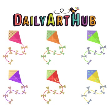 Colorful Kites Clip Art - Great for Art Class Projects!