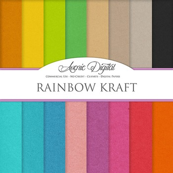 Colorful Kraft Paper Background Textures Digital Paper scrapbook back to school