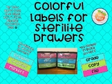 Colorful Labels for Sterilite Drawers