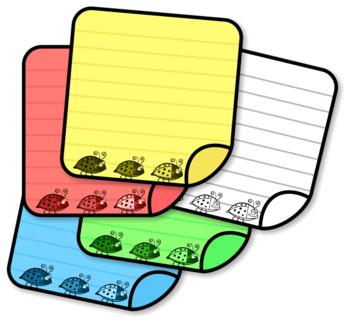 Colorful Ladybug Stationery Set