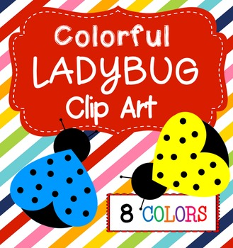 Colorful Ladybugs Clip Art