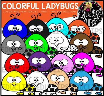 Colorful Ladybugs Clip Art Bundle {Educlips Clipart}