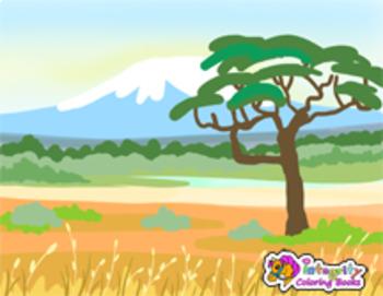 Biomes - Landscape Backgrounds - Habitat Clip Art