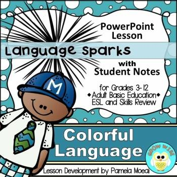 Adjectives, Adverbs, and More: Colorful Language PPT and Notes Newly Revised