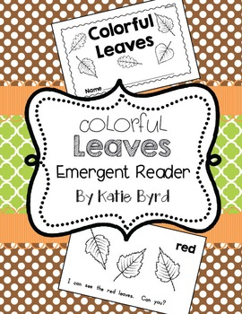 Emergent Reader - Colorful Leaves