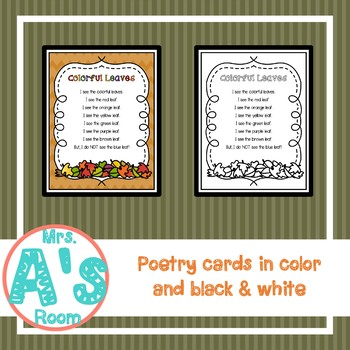 Colorful Leaves Poetry Pack