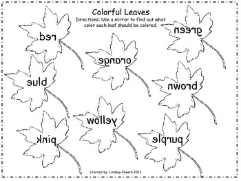 Colorful Leaves and Save the Turkey!