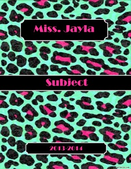 Colorful Leopard Binder Cover