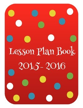 Colorful Lesson Plan Book