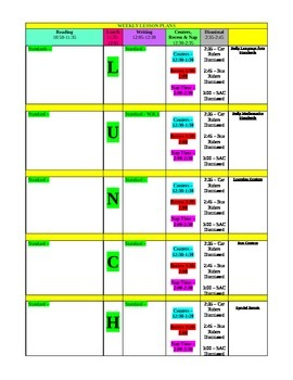 Colorful Lesson Plan Template FREE