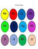 Colorful Letter Eggs and What's Cracking Letter Egg Puzzle