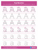 Tracing Worksheets Pack - Colorful Uppercase and Lowercase Letters A - E