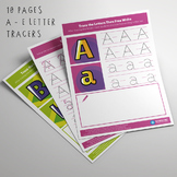 Tracing Worksheets Pack - Colorful Uppercase and Lowercase