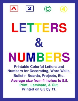 Colorful Letters & Numbers Bundle