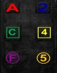 Colorful Letters & Numbers With Chalkboard Background Bundle