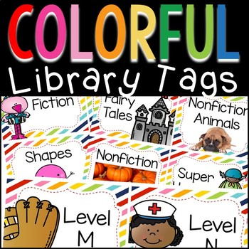 Colorful Library Tags