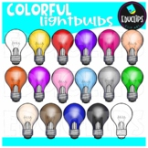 Colorful Light Bulbs Clip Art Bundle {Educlips Clipart}