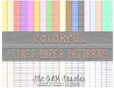 Colorful Lined Digital Paper Backgrounds