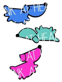 Colorful Little Doggies Clip Art
