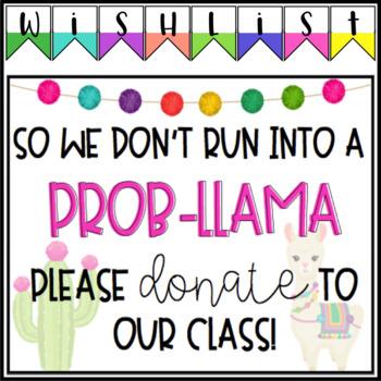Colorful Llama Back To School/ Meet The Teacher Set - EDITABLE