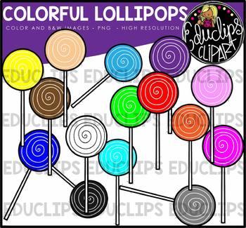 Colorful Lollipop Clip Art Bundle {Educlips Clipart}