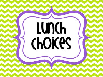 Colorful Lunch Choice Poster