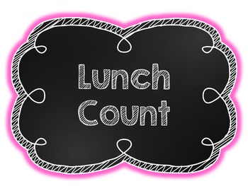 Colorful Lunch Count Cards
