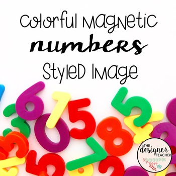 Colorful Magnetic Numbers Styled Image FREEBIE