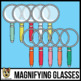 Colorful Magnifying Glass Clip Art