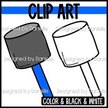 Colorful Mallet Clip Art
